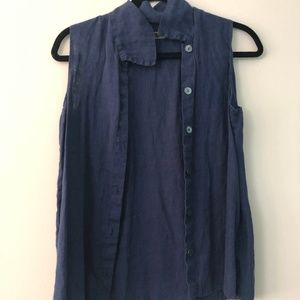 Flax blue button down